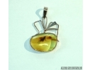 Genuine Baltic amber golden pendant with fossil insect- Caddisfly #g160_0007